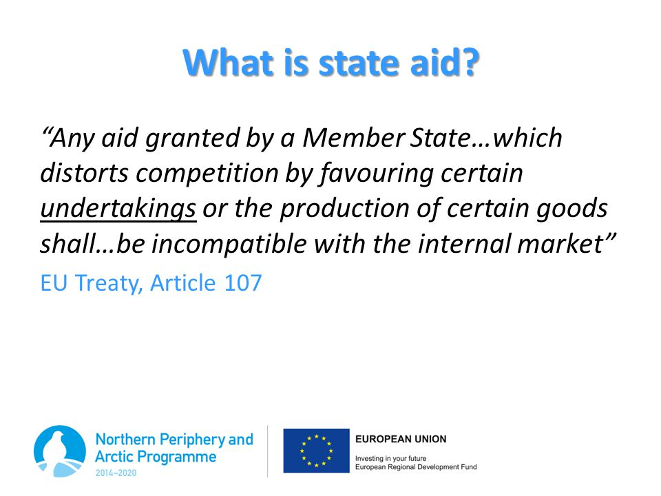 What is state aid