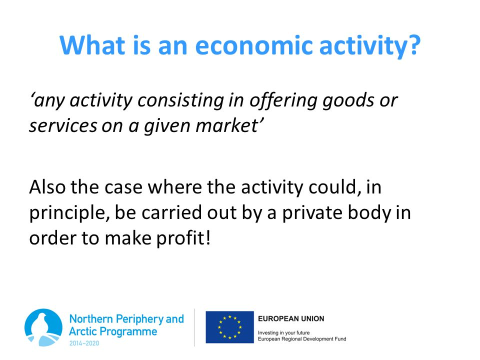 What is an economic activity