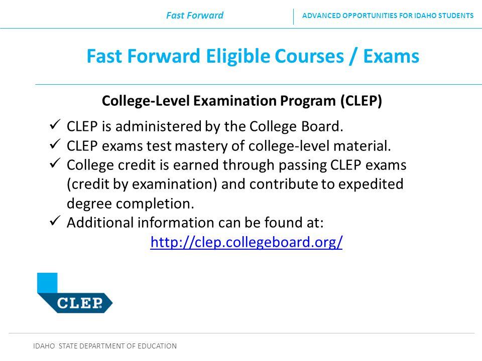 Fast Forward Eligible Courses / Exams