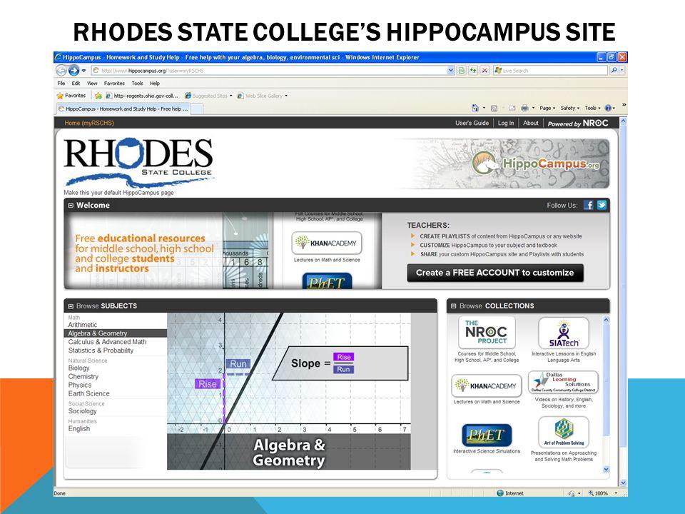 Rhodes State College's HippoCampus Site