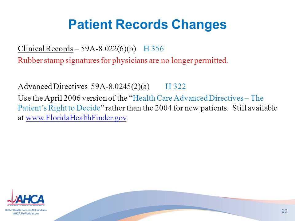Patient Records Changes