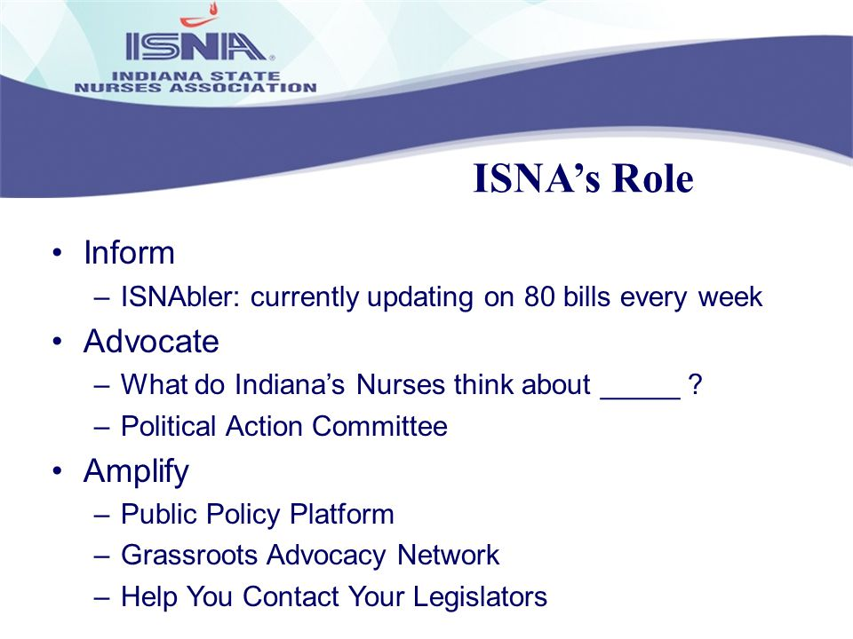 ISNA's Role Inform Advocate Amplify