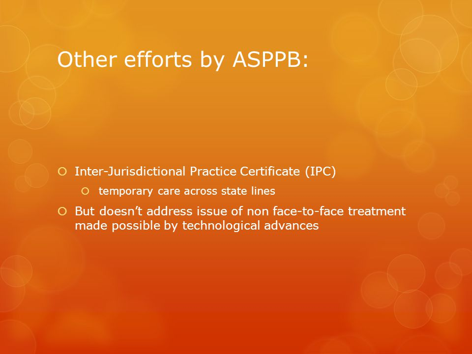 Other efforts by ASPPB: