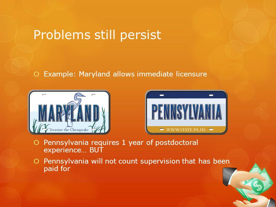 Problems still persist