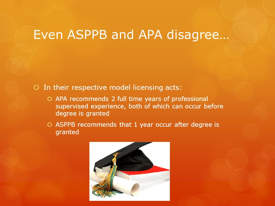 Even ASPPB and APA disagree…