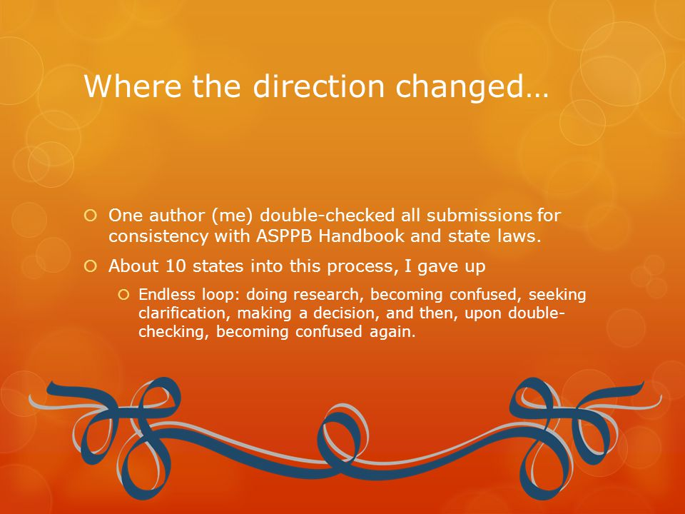 Where the direction changed…