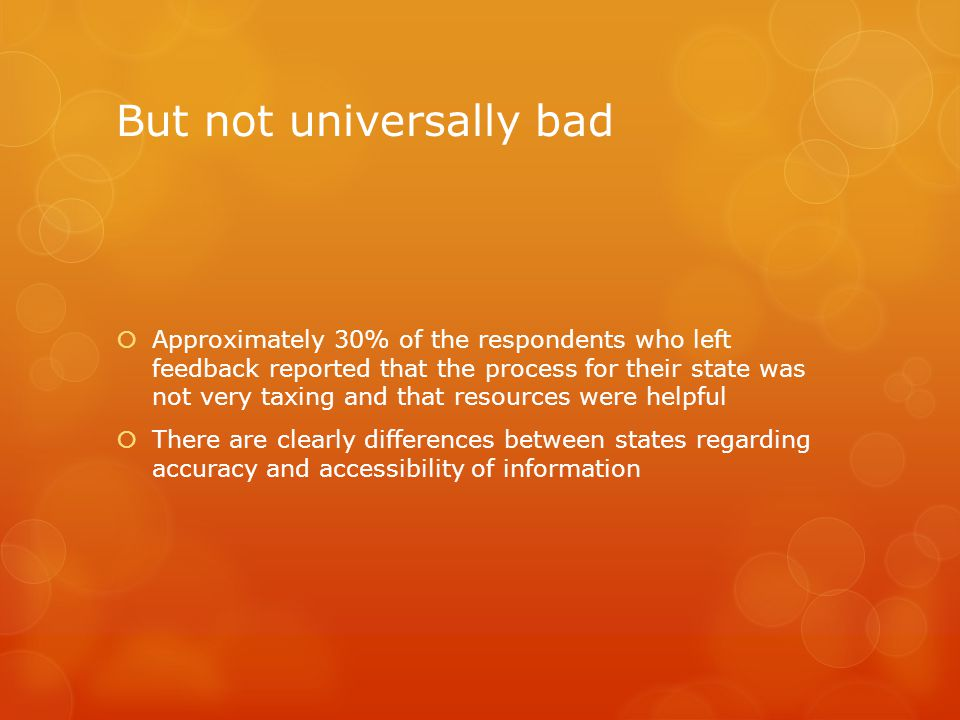 But not universally bad
