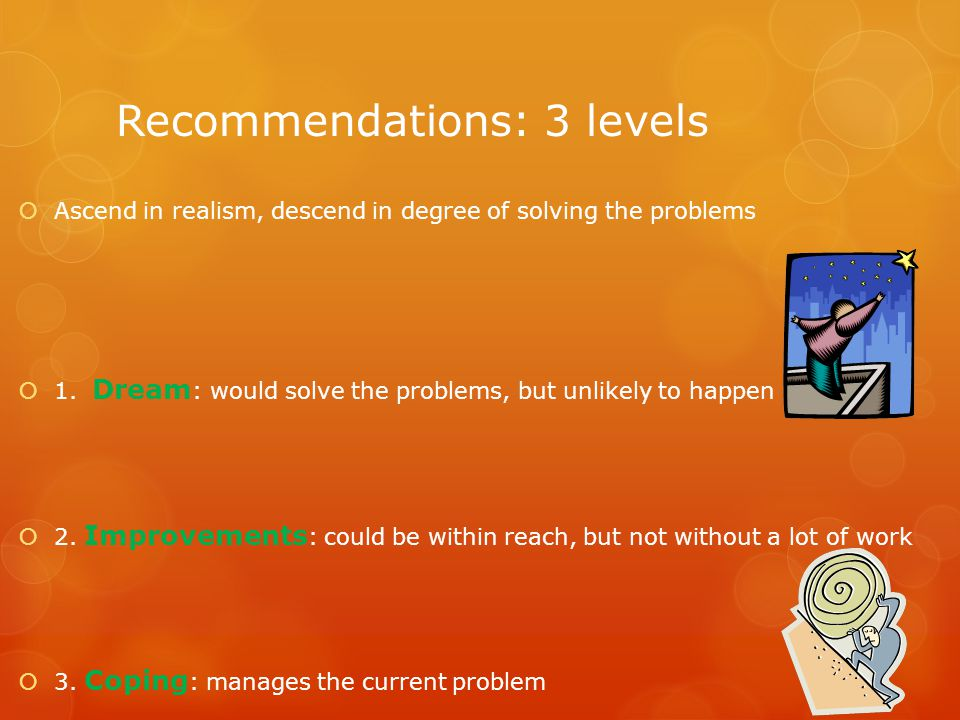 Recommendations: 3 levels