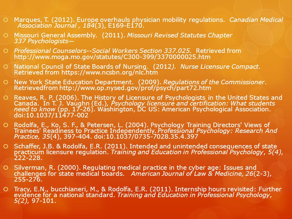 Marques, T. (2012). Europe overhauls physician mobility regulations