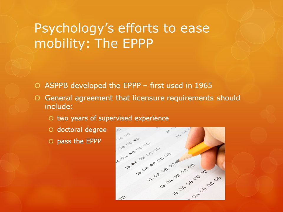Psychology's efforts to ease mobility: The EPPP