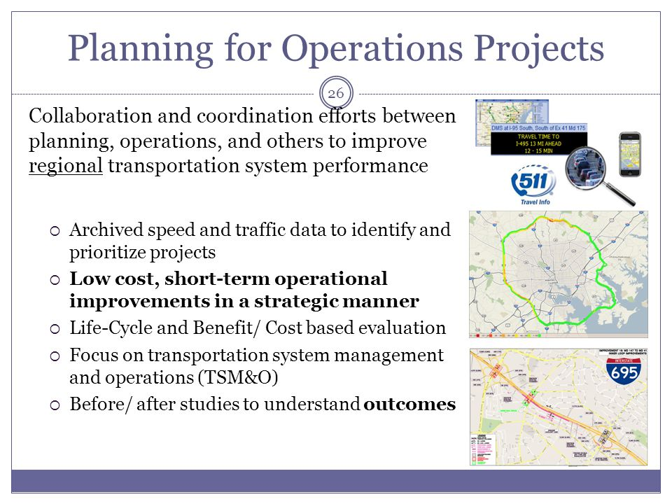 Planning for Operations Projects