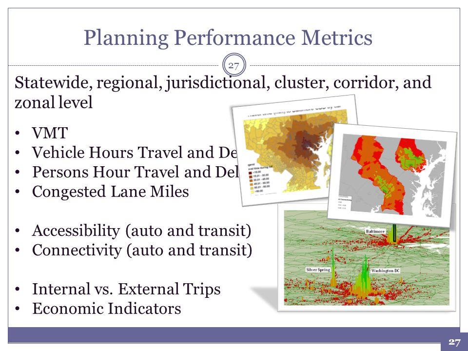 Planning Performance Metrics