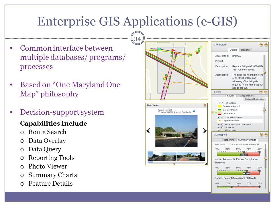 Enterprise GIS Applications (e-GIS)