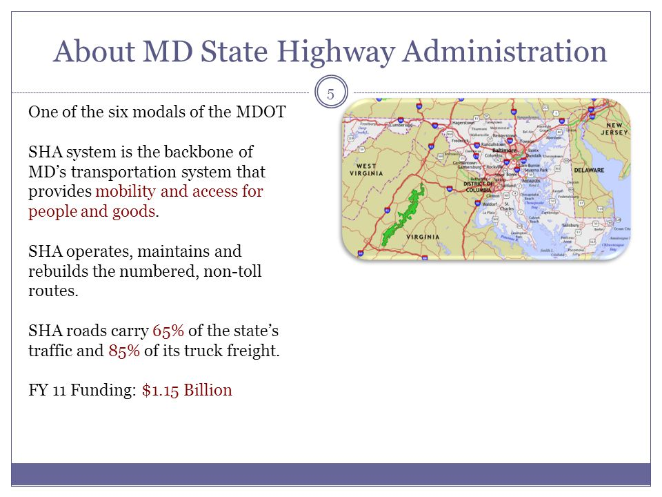 About MD State Highway Administration