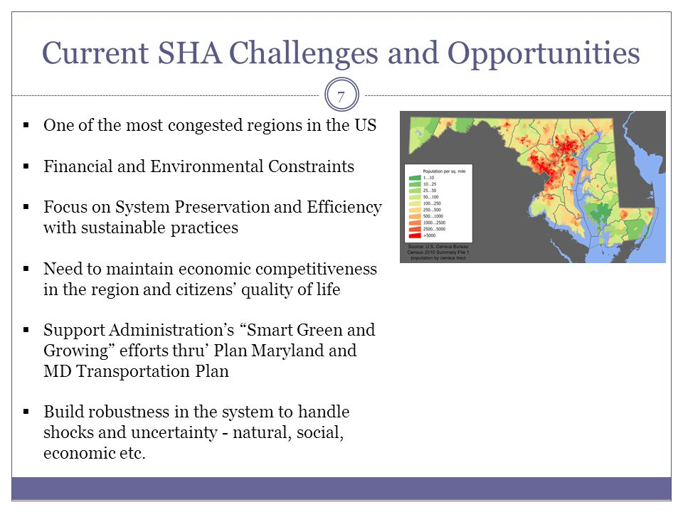 Current SHA Challenges and Opportunities