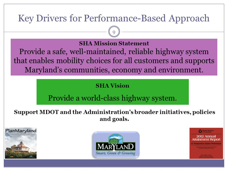 Key Drivers for Performance-Based Approach