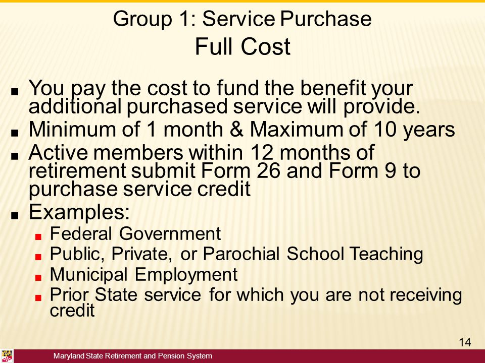 Group 1: Service Purchase Full Cost