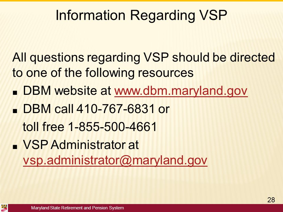 Information Regarding VSP