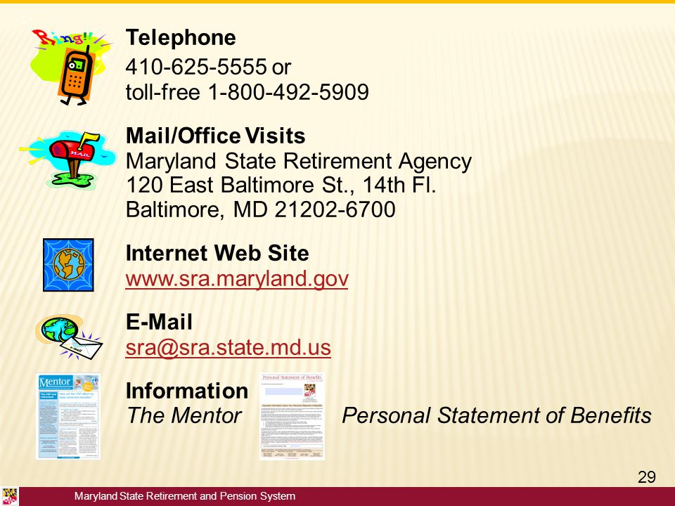 Telephone 410-625-5555 or Mail/Office Visits Internet Web Site E-Mail