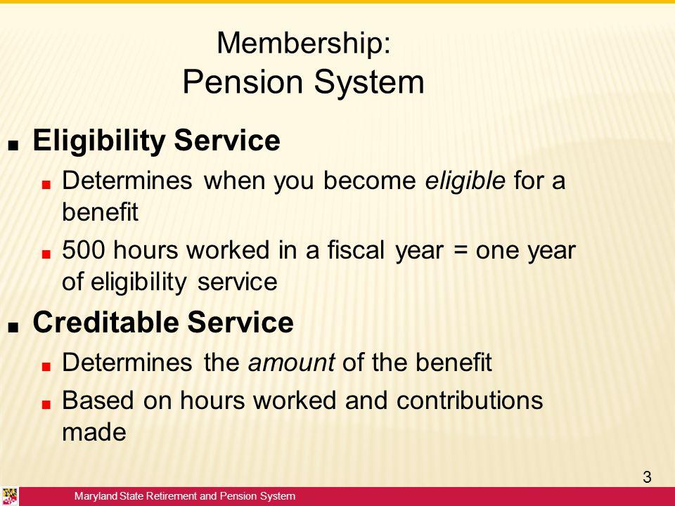Membership: Pension System