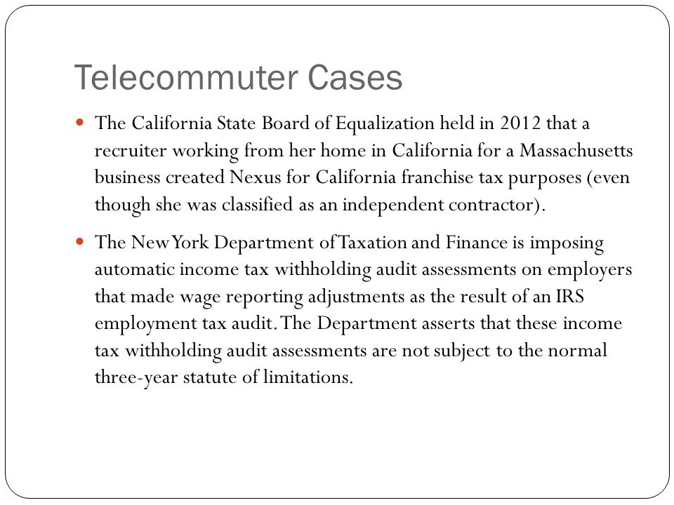 Telecommuter Cases