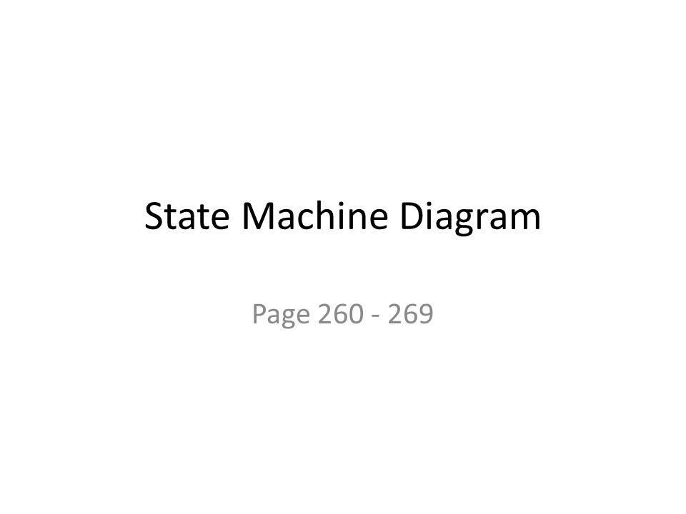 State Machine Diagram Page 260 - 269