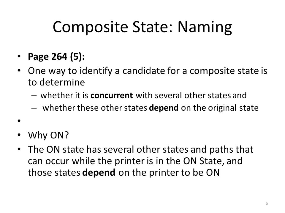 Composite State: Naming