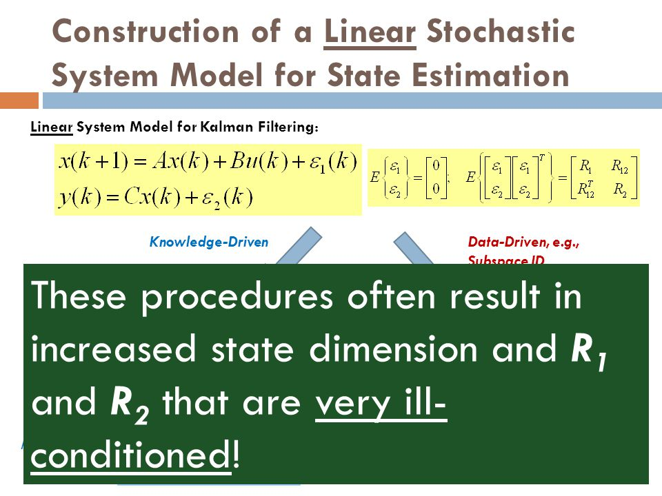 Construction of a Linear Stochastic System Model for State Estimation