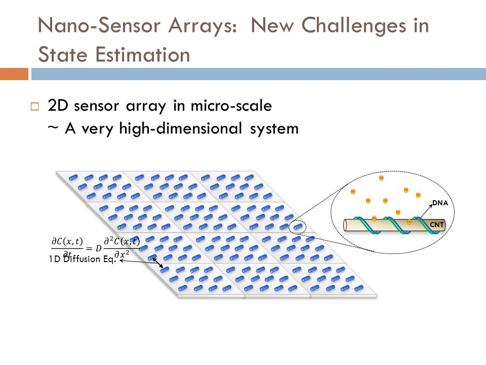 Nano-Sensor Arrays: New Challenges in State Estimation