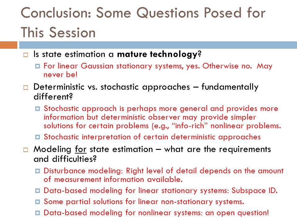 Conclusion: Some Questions Posed for This Session