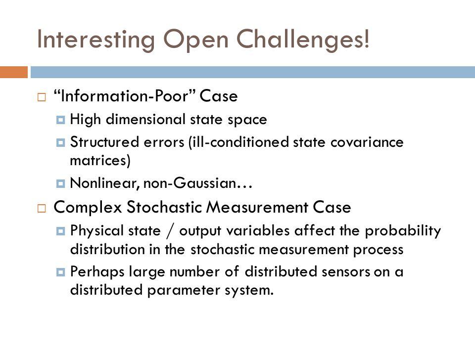 Interesting Open Challenges!