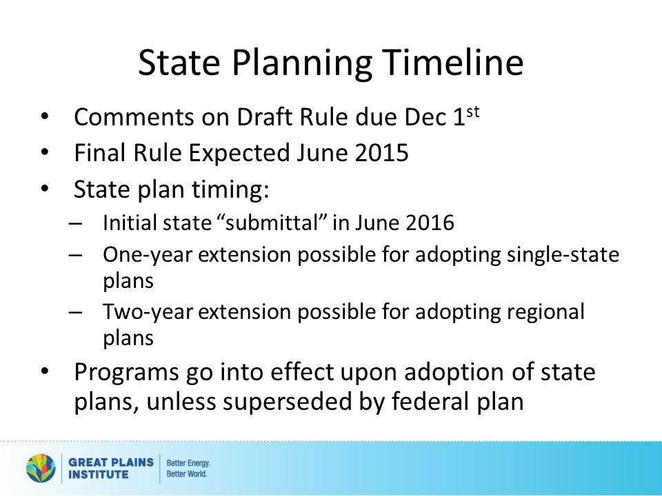 State Planning Timeline