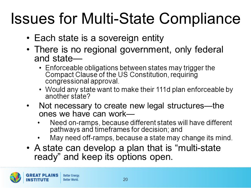 Issues for Multi-State Compliance