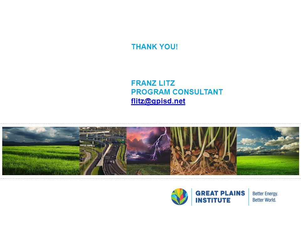 Thank You! Franz Litz Program consultant flitz@gpisd.net