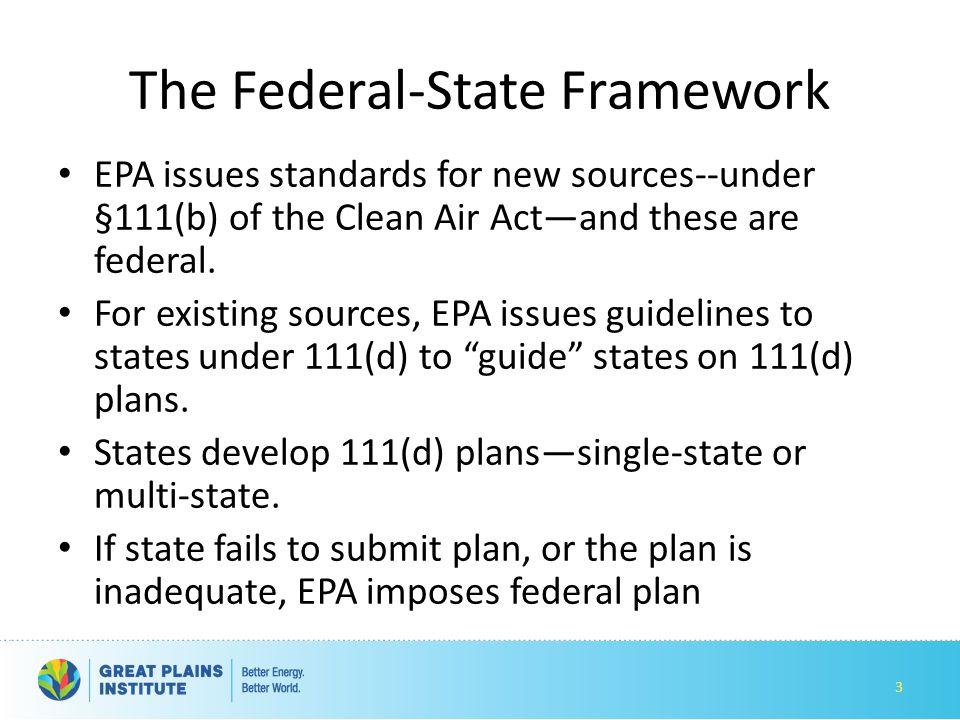 The Federal-State Framework