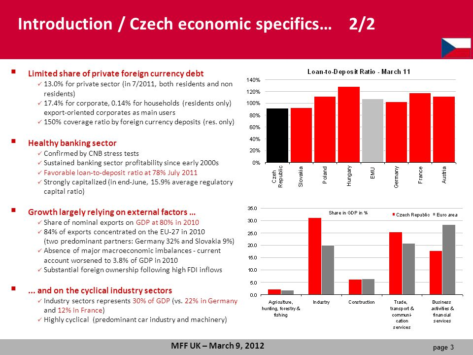 Introduction / Czech economic specifics… 2/2