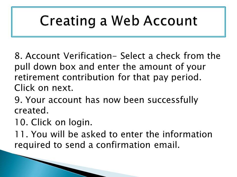 Creating a Web Account