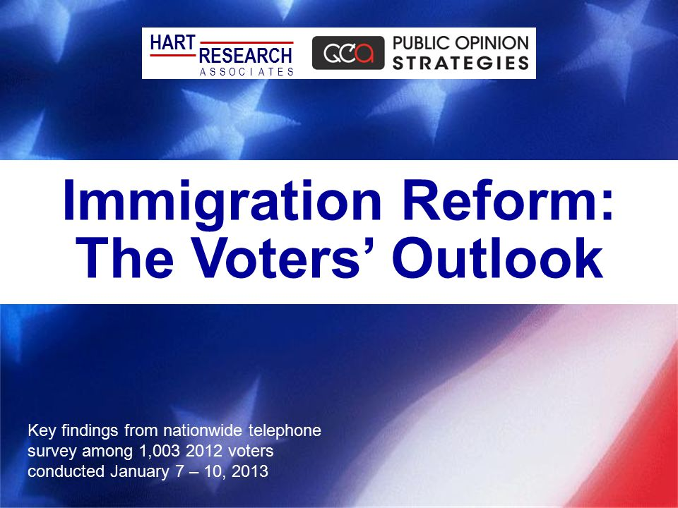 Immigration Reform: The Voters' Outlook