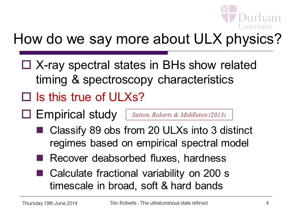 How do we say more about ULX physics