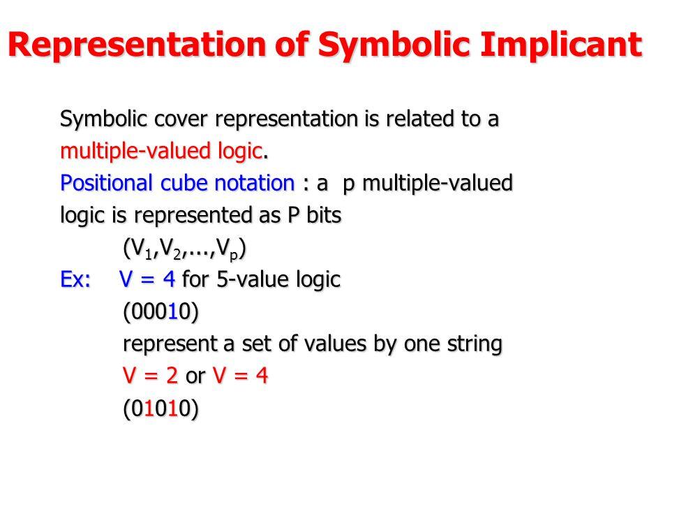 Representation of Symbolic Implicant