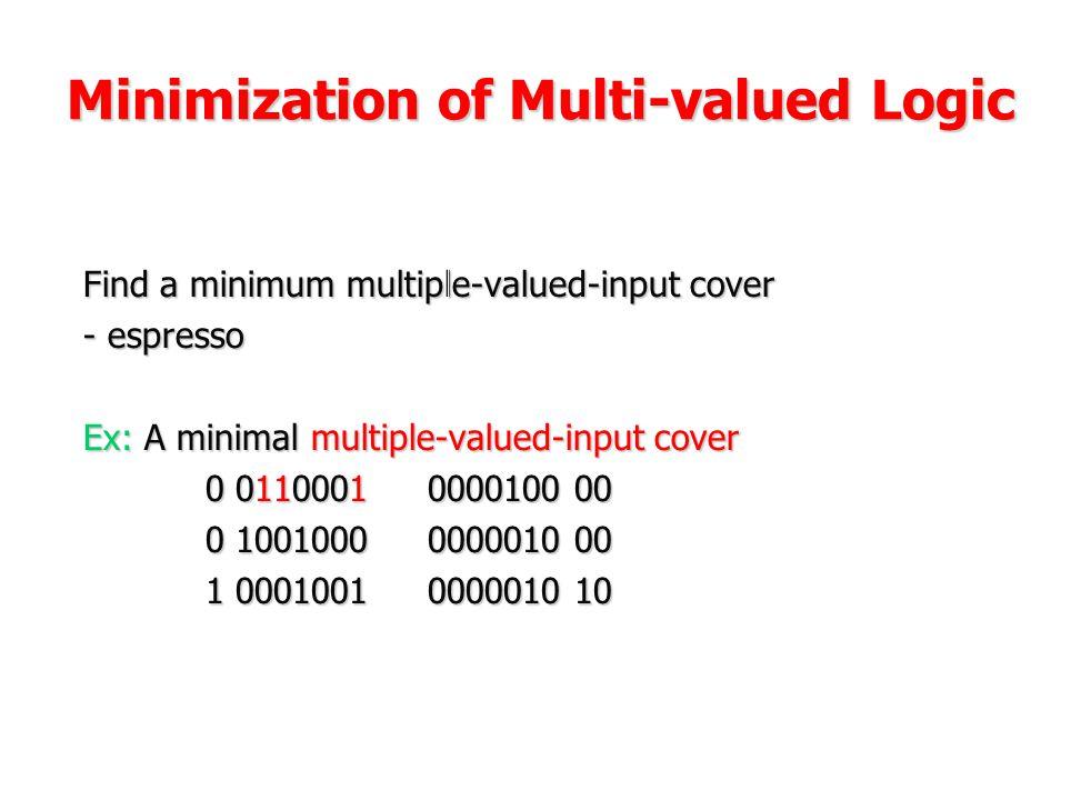 Minimization of Multi-valued Logic