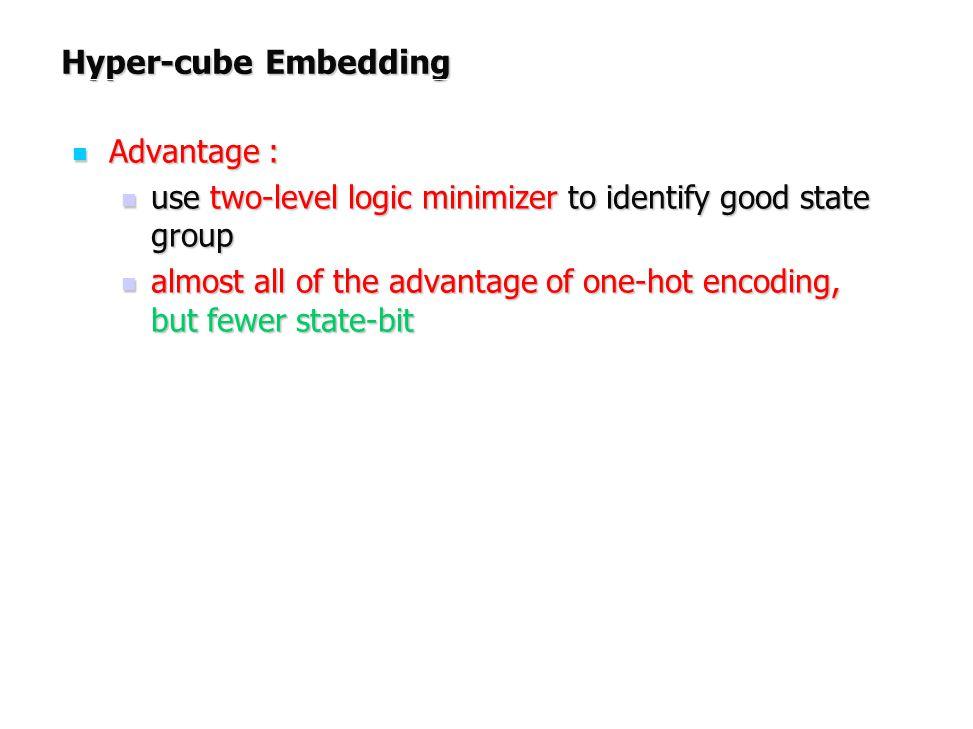 Hyper-cube Embedding Advantage :