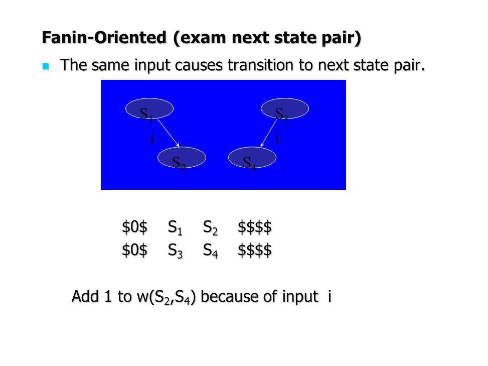 Fanin-Oriented (exam next state pair)