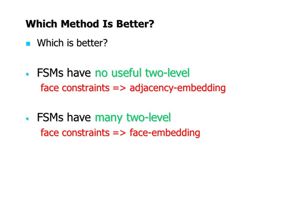 FSMs have no useful two-level