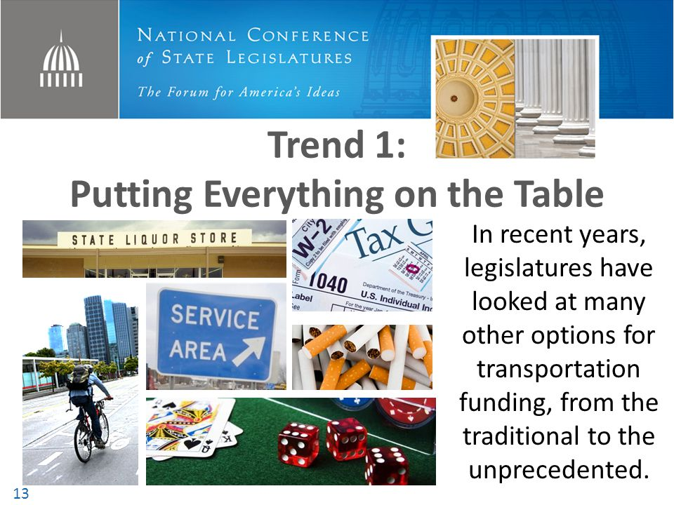 Trend 1: Putting Everything on the Table