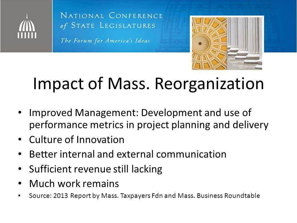 Impact of Mass. Reorganization