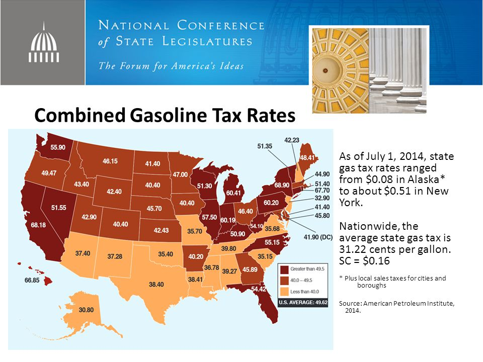 Combined Gasoline Tax Rates
