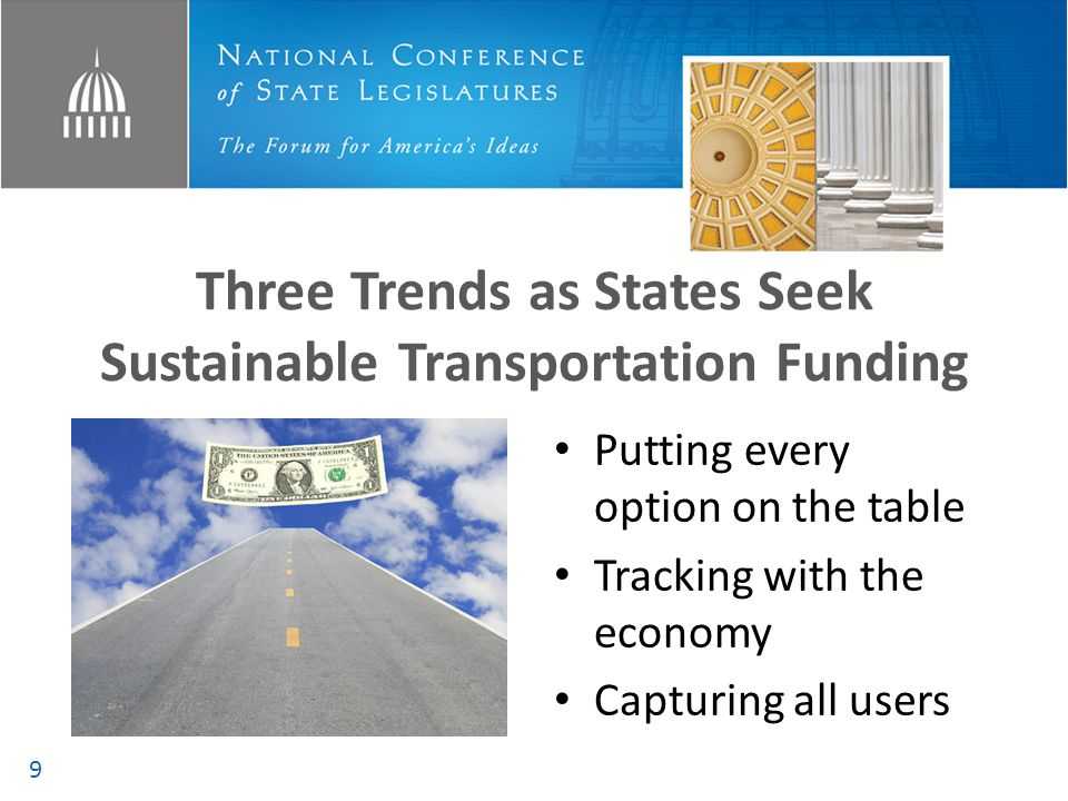 Three Trends as States Seek Sustainable Transportation Funding