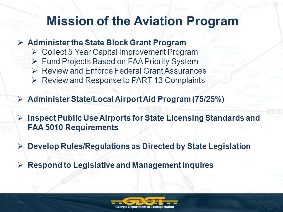 Mission of the Aviation Program