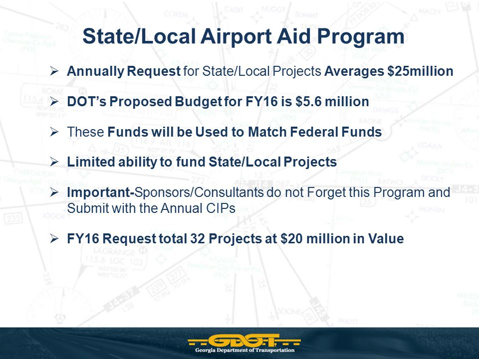 State/Local Airport Aid Program